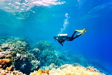 Quanto maior a profundidade do mergulhador, maior será a pressão hidrostática sobre seu corpo.
