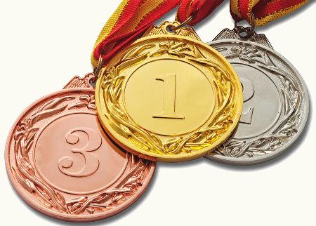 Os metais nobres são utilizados na confecção de medalhas para competições esportivas