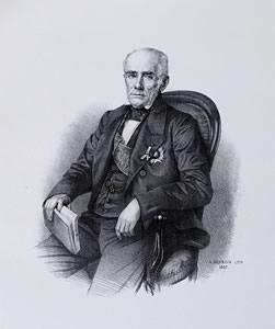 Araújo Lima, o marquês de Olinda, em gravura de Sébastien Auguste Sisson (1824-1893). *