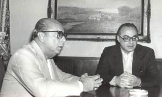 João Batista Figueiredo com Paulo Maluf, que disputou eleição para substituir o último governante da ditadura militar no Brasil *