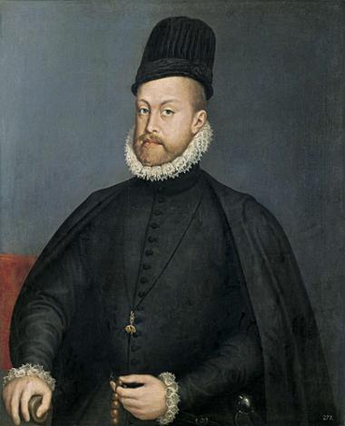 O rei Felipe II tornou-se monarca tanto da Espanha quanto de Portugal em 1580