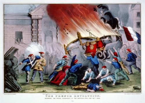 """O nome """"Primavera dos Povos"""" foi dado às revoltas populares que ocorreram na França em 1848"""