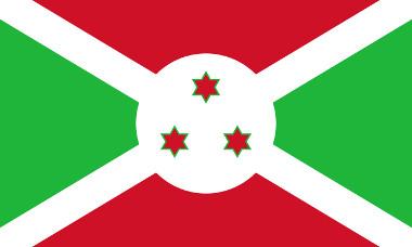 Bandeira oficial da República do Burundi
