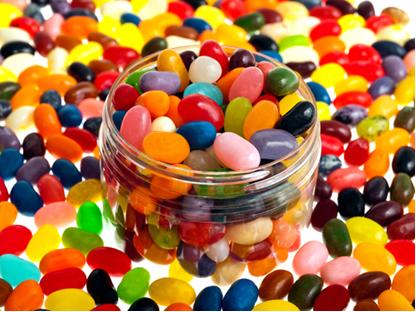 As balas são exemplos de produtos industrializados que recebem diferentes tipos de flavorizantes