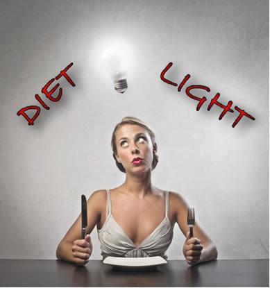 Você sabe dizer se uma pessoa que quer emagrecer deve comer um alimento diet ou light?