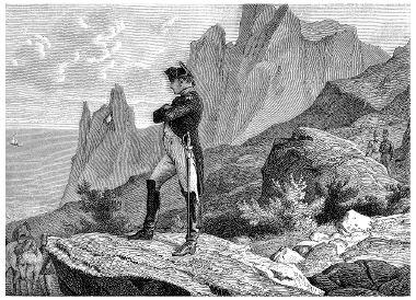 Napoleão foi exilado na ilha de Santa Helena em 1815 e lá permaneceu até a sua morte, em 1821