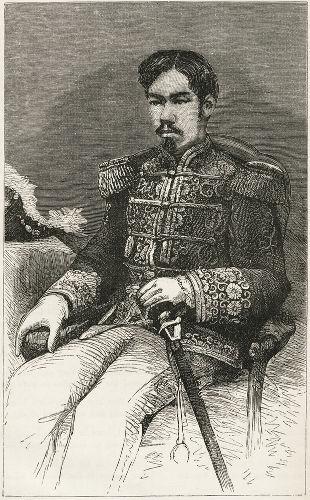 Imperador Meiji, o primeiro imperador japonês após a restauração do poder imperial