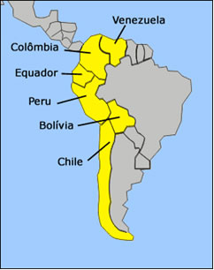 los paises andinos: