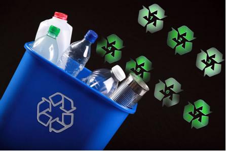 Existem símbolos internacioanis para a reciclagem de plásticos