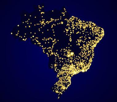 A densidade demográfica do Brasil indica a má distribuição da população pelo território