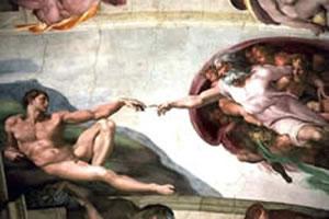 A criação do homem, por Michelangelo (Capela Sistina, Vaticano – 1510).