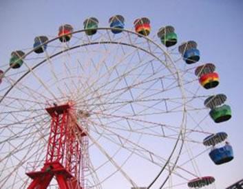 A roda-gigante descreve um movimento circular com velocidade constante