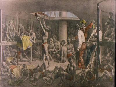 Navio negreiro, de Johann Moritz Rugenda (1802-1858). O objetivo do Bill Aberdeen era extinguir o tráfico de escravos no Atlântico
