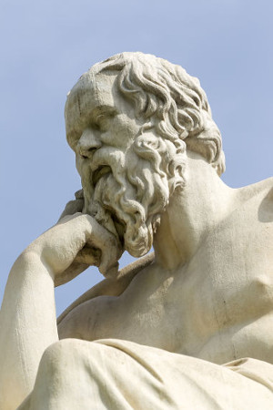 A felicidade para Sócrates estava associada à virtude