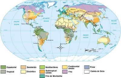 Principais tipos climáticos da Terra