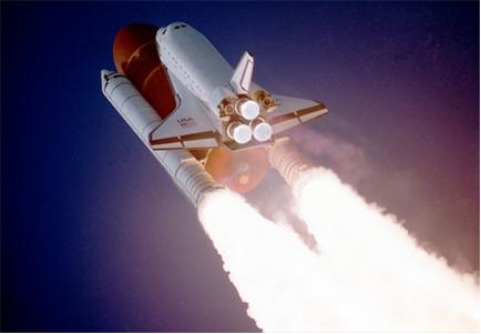 Reação de combustão em foguete