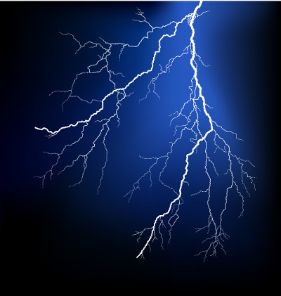 Os raios são fenômenos naturais que ocorrem graças à eletrização por atrito das nuvens