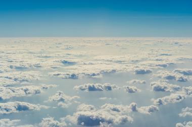 Imagem da troposfera, uma das camadas da atmosfera