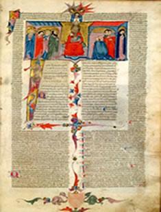 Ilustração de fragmentos do Código Justiniano