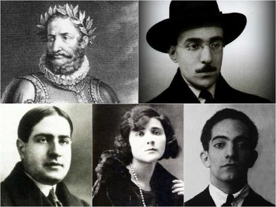 Luís de Camões, Fernando Pessoa, Mário de Sá-Carneiro, Florbela Espanca e Almada Negreiros são representantes da poesia portuguesa