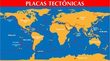 Mapa geral com as placas tectônicas