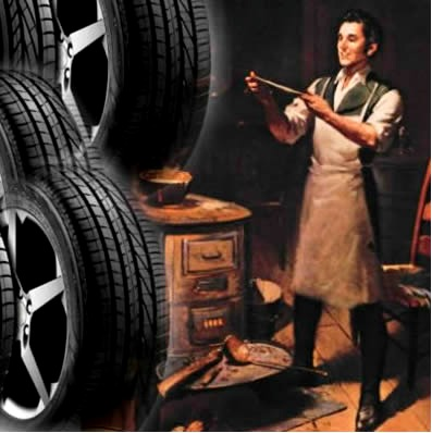 Acidentalmente, Charles Goodyear descobriu o processo da vulcanização, usado em borrachas de pneus hoje em dia