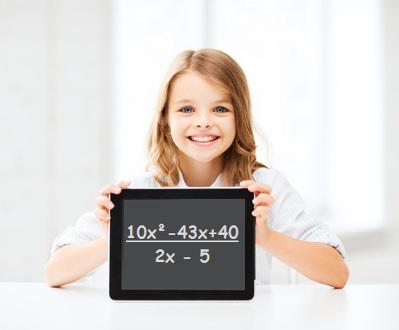 Você sabe qual o quociente da divisão (10x² – 43x + 40):(2x – 5)?
