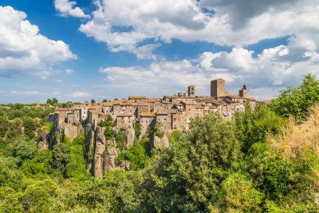 Cidade medieval de Vitorchiano, na Itália