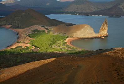 Imagem de uma das ilhas que compõem o Arquipélago de Galápagos