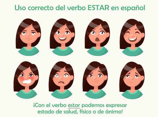 Com o verbo estar, podemos falar do nosso estado emocional!