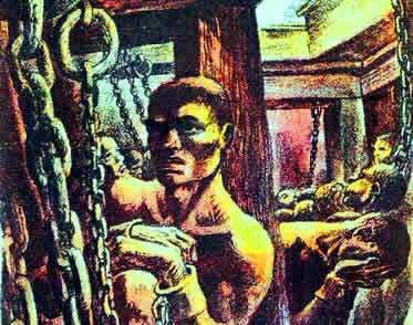 Os africanos capturados como escravos sofriam com os horrores dos navios negreiros.