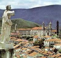 Ouro Preto, antiga Vila Rica (cidade na qual se destacou o grupo de intelectuais árcades)