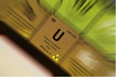 O urânio é um elemento radioativo natural