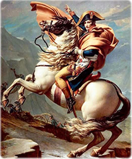 Napoleão Bonaparte, líder da Revolução Francesa.