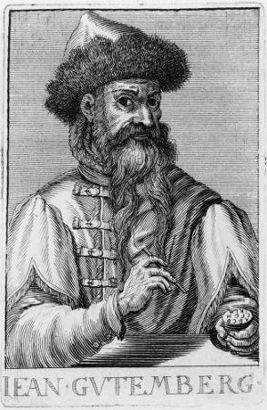Johannes Gutenberg foi o responsável pelo desenvolvimento da moderna máquina de imprensa
