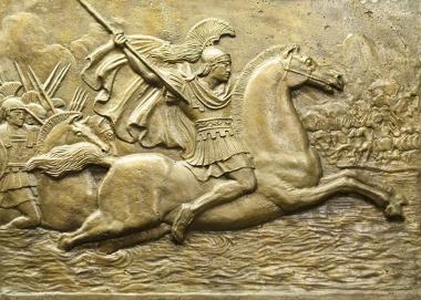 Alexandre Magno (356 a.C; – 323 a.C.) foi um dos maiores imperadores da Antiguidade e também um dos maiores estrategistas militares