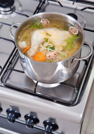 O preparo de uma sopa é um procedimento de diluição