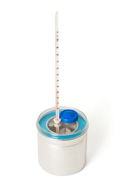 Calorímetro usado para determinar o valor energético dos alimentos