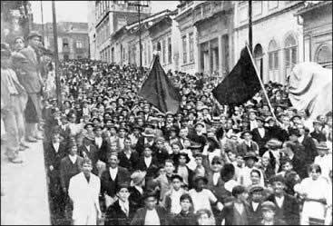 Greve de 1917, mobilização incentivada pela ação anarquista.