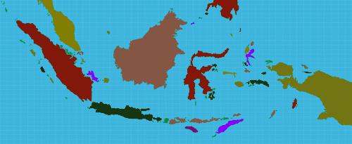 A Indonésia é um país formado por 17.508 ilhas. É um arquipélago de origem vulcânica