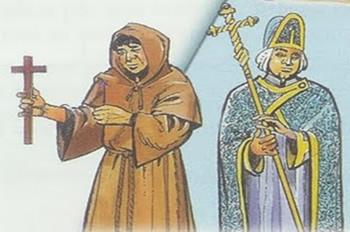 O clero regular dedicava-se à espiritualização; enquanto o clero secular, à catequização das pessoas.