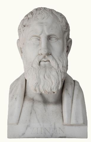 Zenão de Eleia foi um dos pré-socráticos mais célebres. Ele defendeu as teorias monistas de Parmênides, seu mestre, por meio da redução ao absurdo