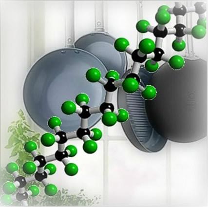 Composição química do polímero teflon, usado em frigideiras antiaderentes