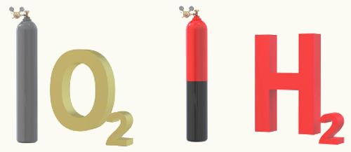 Os gases hidrogênio e oxigênio são exemplos de substâncias cujas moléculas são apolares