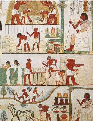 Ilustração dos segmentos sociais egípcios na Antiguidade