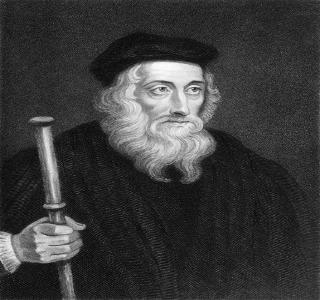 Gravura de John Wyclif, um dos principais precursores da Reforma Protestante