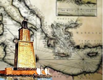 O Farol de Alexandria foi uma das mais importantes construções de toda a Antiguidade.