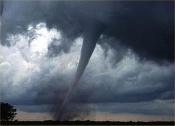 Aspecto de um furacão