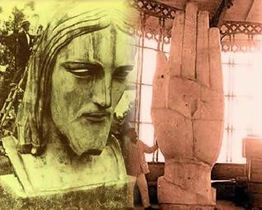 Algumas imagens que remontam o delicado processo de execução da estátua do Cristo Redentor.