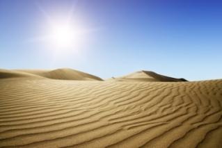 Boa parte dos desertos do mundo forma dunas de areias, mas nem todos são assim